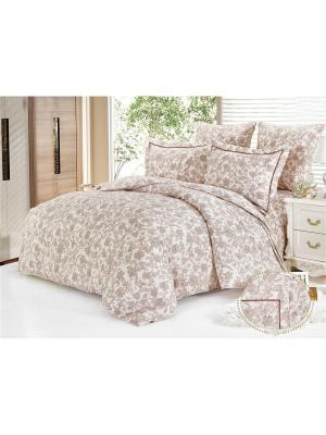 Комплект постельного белья, Шерли, Семейный KAZANOV.A.. Цвет: молочный