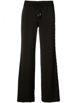 Расклешенные брюки Alice+Olivia. Цвет: чёрный