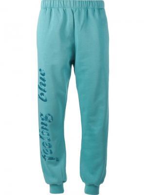 Спортивные брюки Feeling Blue Ashish. Цвет: синий