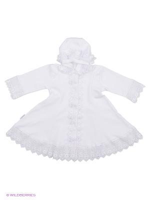 Крестильное платье Ивбэби. Цвет: белый