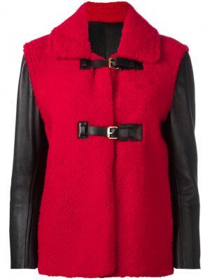 Куртка с ремешками Louis Vuitton Vintage. Цвет: красный