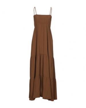 Длинное платье CARLA G.. Цвет: коричневый