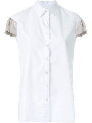 Рубашка без рукавов Kolor. Цвет: белый