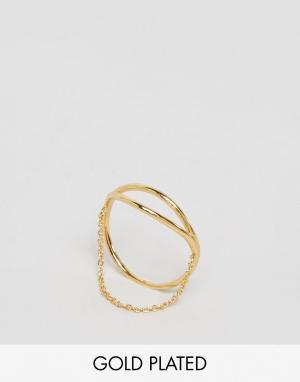 Gorjana Кольцо с цепочкой Remy. Цвет: золотой