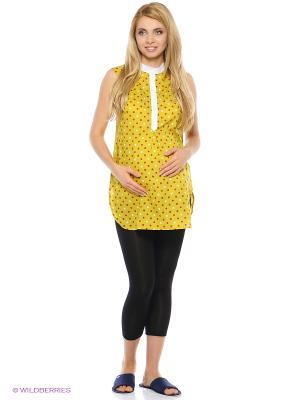 Блузка Hunny Mammy. Цвет: желтый, белый, красный