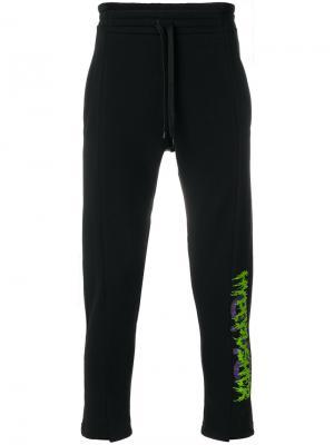 Зауженные спортивные брюки Omc. Цвет: чёрный