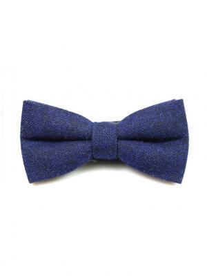 Галстук-бабочка Churchill accessories. Цвет: синий, лазурный