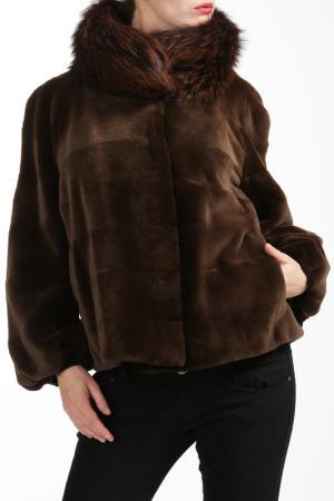 Полушубок Manakas. Цвет: коричневый