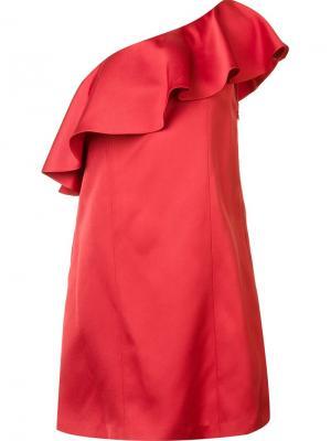 Платье на одно плечо Julia Zac Posen. Цвет: красный