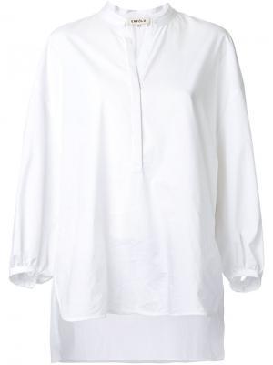 Блузка с епископскими рукавами Enföld. Цвет: белый