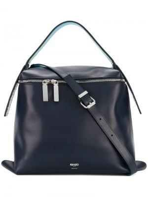 Большая сумка-тоут Kenzo. Цвет: синий
