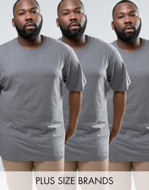 Dickies Набор из 3 футболок PLUS. Цвет: серый