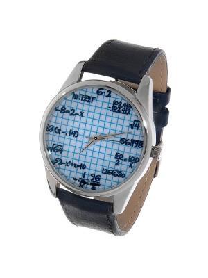 Часы Mitya Veselkov Формулы на клетке. Цвет: антрацитовый