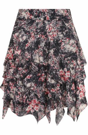 Мини-юбка с оборками и принтом Isabel Marant Etoile. Цвет: разноцветный