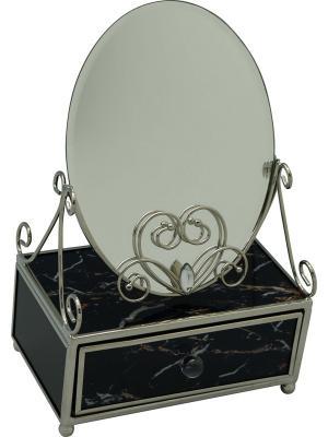 Зеркало со шкатулкой  Мрамор JARDIN D'ETE. Цвет: темно-синий
