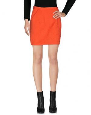 Мини-юбка ELISABETTA FRANCHI. Цвет: оранжевый