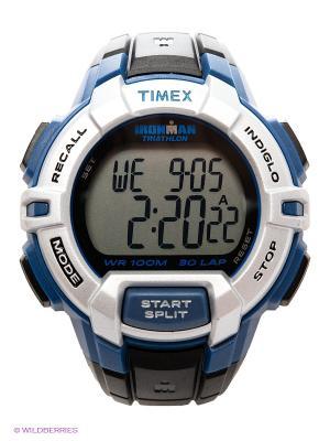 Часы TIMEX. Цвет: синий, черный
