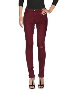Джинсовые брюки AG ADRIANO GOLDSCHMIED. Цвет: пурпурный