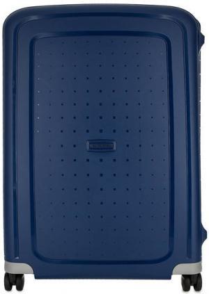 Пластиковый чемодан на защелках Samsonite. Цвет: синий