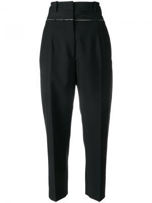Укороченные брюки с высокой посадкой Jil Sander. Цвет: чёрный