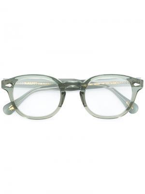 Очки Lemtosh 49 Moscot. Цвет: зелёный