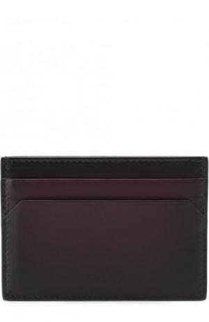 Кожаный футляр для кредитных карт Bally. Цвет: темно-фиолетовый