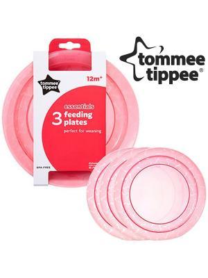 Набор плоских тарелочек дл начала кормлени TOMMEE TIPPEE. Цвет: розовый