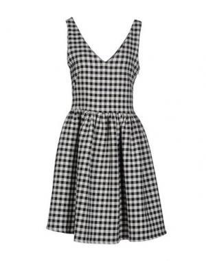 Короткое платье SHIRTAPORTER. Цвет: черный