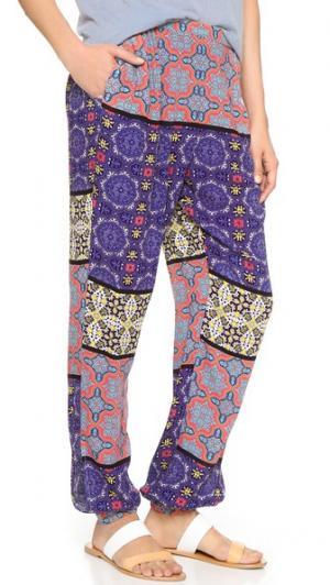 Пляжные брюки Pepper & Splice MINKPINK. Цвет: мульти