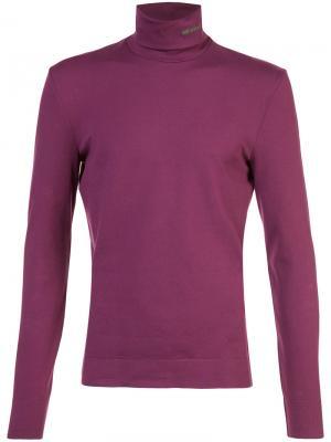 Базовая водолазка Calvin Klein. Цвет: розовый и фиолетовый