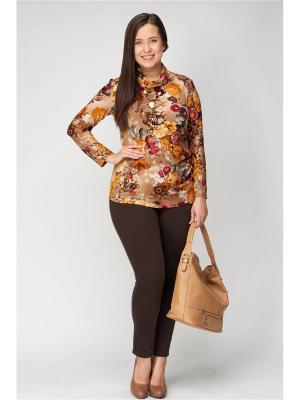 Блузка Amarti. Цвет: бежевый, коричневый