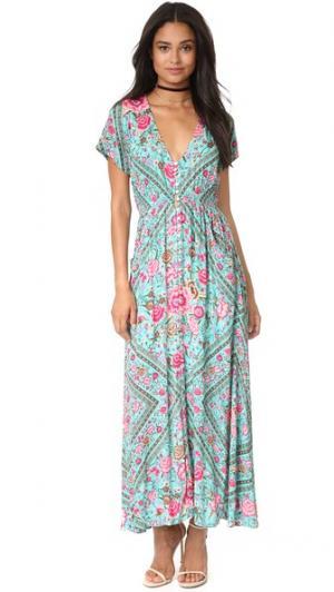 Вечернее платье Babushka SPELL. Цвет: бирюзовый