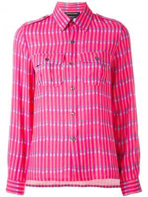 Рубашка с принтом Vanessa Seward. Цвет: розовый и фиолетовый