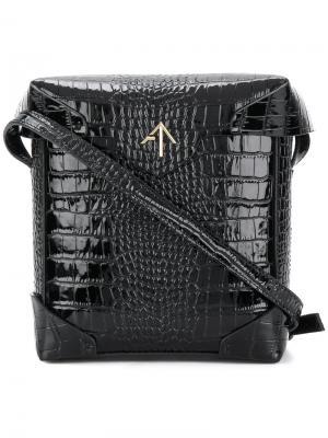 Мини сумка на плечо Pristine Manu Atelier. Цвет: чёрный