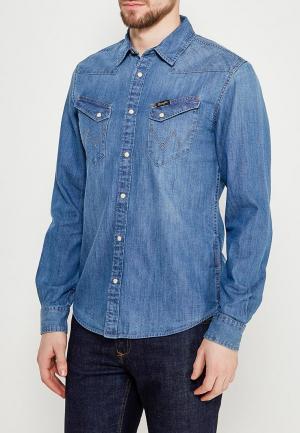 Рубашка джинсовая Wrangler. Цвет: голубой