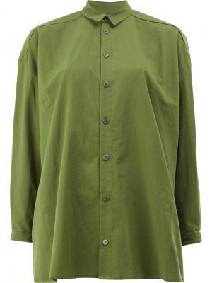 Свободная рубашка Toogood. Цвет: зелёный