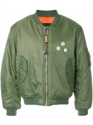 Куртка-бомбер  burguer Lc23. Цвет: зелёный