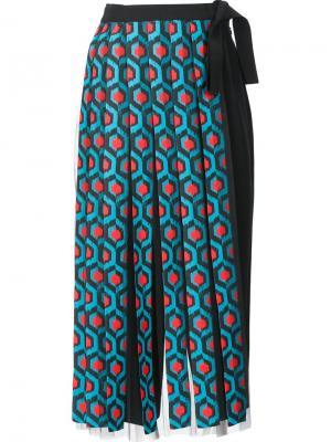 Длинная юбка с бахромой Delpozo. Цвет: синий