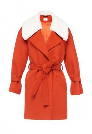Пальто Soeasy. Цвет: оранжевый