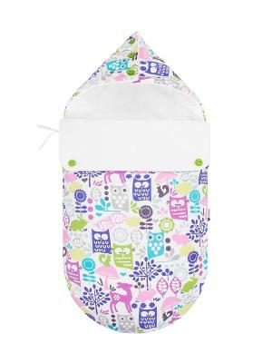 Конверт для новорождённого Сказочный лес (зимний) MIKKIMAMA. Цвет: белый, салатовый, голубой, фиолетовый, розовый