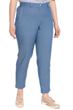 Брюки Terra. Цвет: джинсовый, голубой