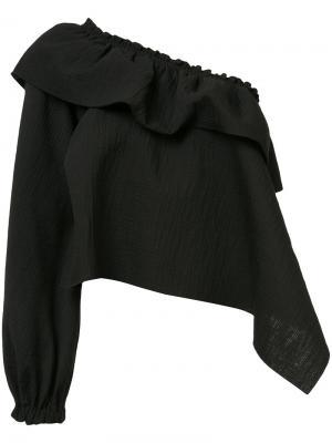 Блузка на одно плечо Rachel Comey. Цвет: чёрный