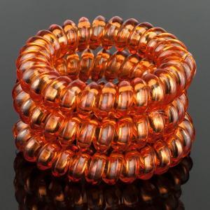 Комплект Резинок-Пружинок для волос 3 шт/уп, арт. РПВ-324 Бусики-Колечки. Цвет: коричневый