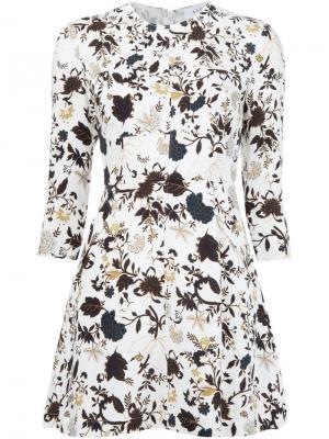 Платье с цветочным принтом A.L.C.. Цвет: белый