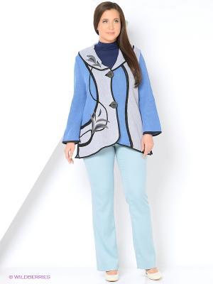 Жакет Milana Style. Цвет: голубой