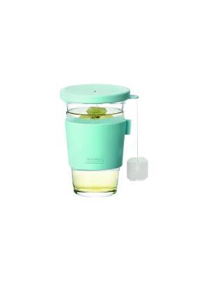 Стакан Glasslock GL-1033 0.5л для гор напитков. Цвет: прозрачный, салатовый