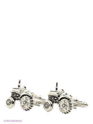 Запонки Тракторы Mitya Veselkov. Цвет: серебристый