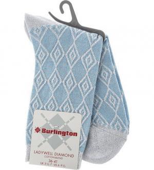 Синие носки из вискозы Burlington. Цвет: синий