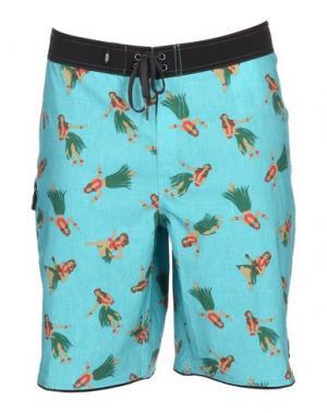 Пляжные брюки и шорты VANS. Цвет: бирюзовый