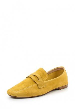 Лоферы Mango. Цвет: желтый